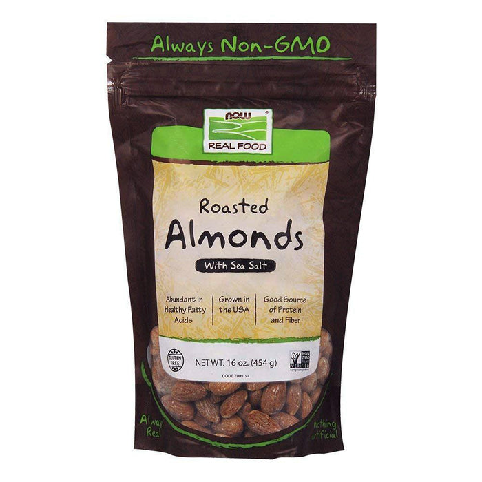 Now Foods Vitamins, Minerals, Herbs & More Now Foods Almonds Roasted and Salted 16 Oz (580674879532)