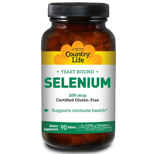 Country Life Vitamins, Minerals, Herbs & More Country Life Selenium 200 mcg 90 tabs (580481122348)