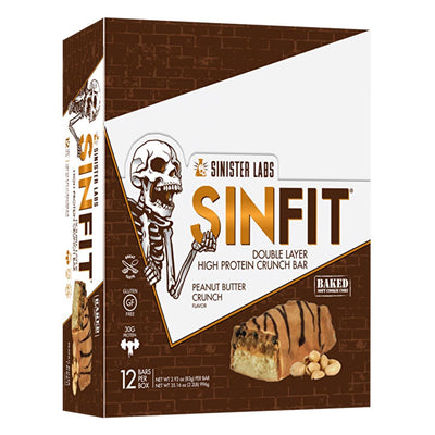 Sinister Labs Sports Nutrition & More Peanut Butter Crunch Sinister Labs SinFit Bar 12/Box (582653050924)