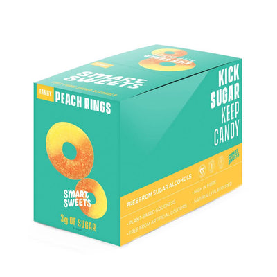 Smart Sweets Foods & - Juices Tangy Peach Rings Smart Sweets Gummy Bears 12/Box (1134495072300)