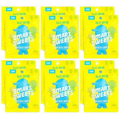 Smart Sweets Foods & - Juices Sour Blast Buddies Smart Sweets Gummy Bears 12/Box (1134495072300)