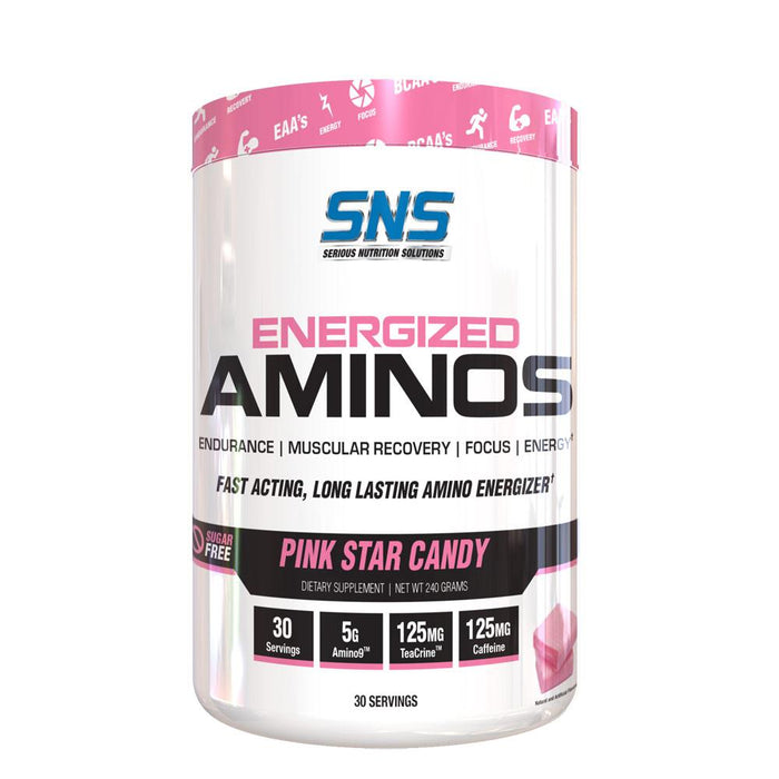 Serious Nutrition Solutions Amino Acids Pink Star Candy SNS Energized Aminos 30 Servings (4396869648499)