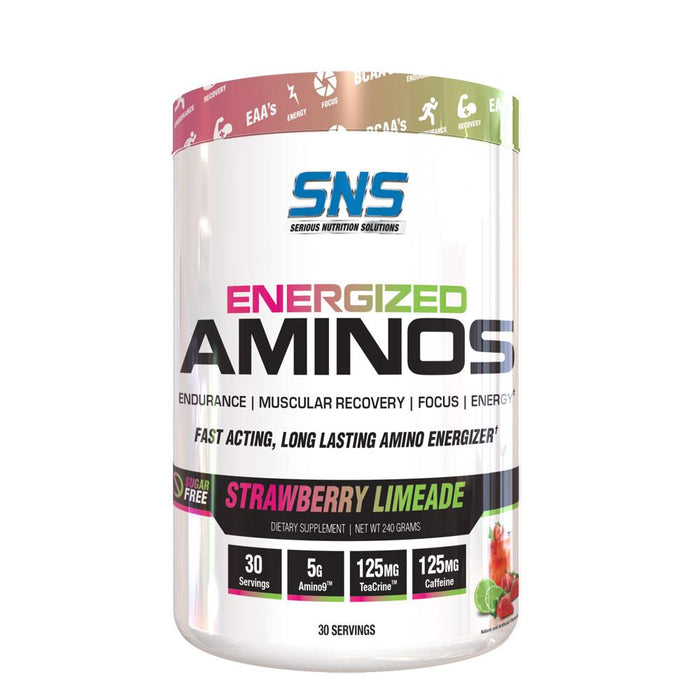 Serious Nutrition Solutions Amino Acids Strawberry Limeade SNS Energized Aminos 30 Servings (4396869648499)