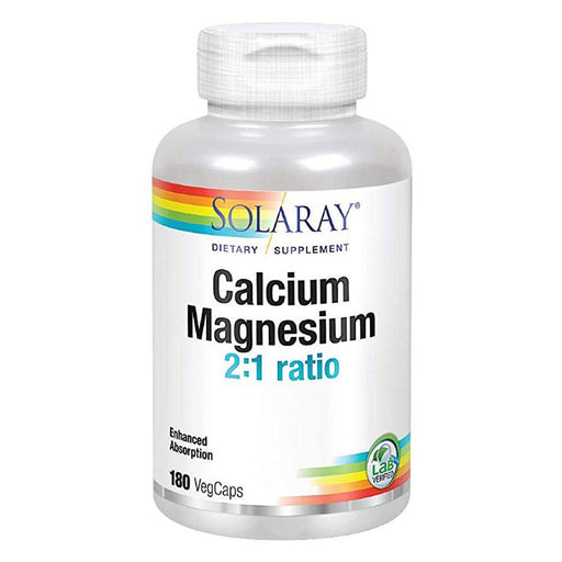 Solaray Calcium and Magnesium 2:1 Ratio 180 VegCaps (580522541100)
