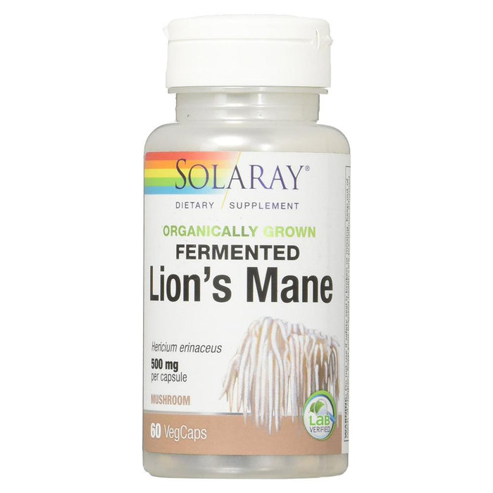 Solaray Herbs Default Solaray Fermented Lion's Mane 60VC (1763037478956)