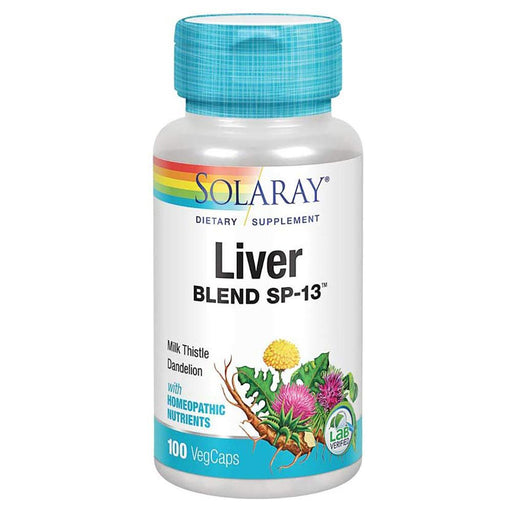 Solaray Vitamins, Minerals, Herbs & More Solaray Liver Blend SP-13 100VegCaps (580508745772)