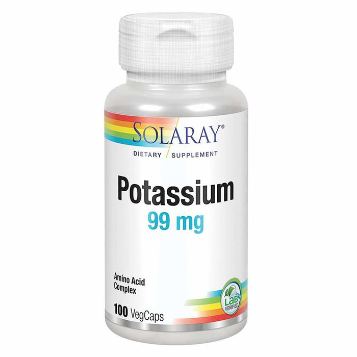 Solaray Vitamins, Minerals, Herbs & More Solaray Potassium 99mg 100 Caps (580524965932)