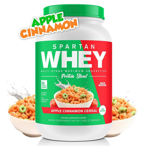 Sparta Nutrition Protein Powders APPLE CINNAMON CEREAL Sparta Nutrition Spartan Whey 2Lbs (1595217969196)