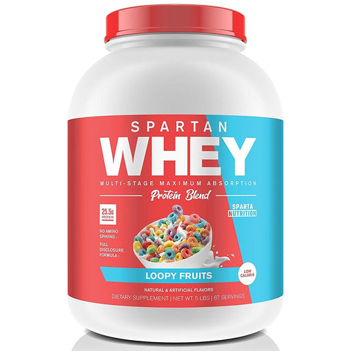Sparta Nutrition Sports Nutrition & More Loopy Fruits Sparta Nutrition Spartan Whey 5lbs (842061774892)
