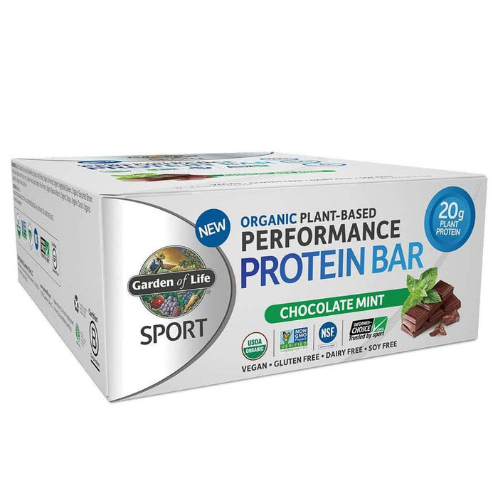 Garden of Life Bars Chocolate Mint Garden Of Life Sport Organic Plant-Based Protein Bar 12/Box (1154082603052)