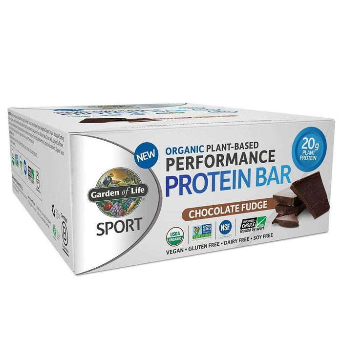 Garden of Life Bars Chocolate Fudge Garden Of Life Sport Organic Plant-Based Protein Bar 12/Box (1154082603052)