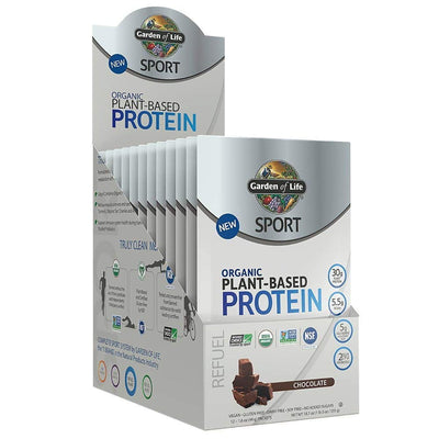 Garden of Life Protein Powders Chocolate Garden Of Life Sport Organic Plant-Based Protein 12 Count (1154099675180)