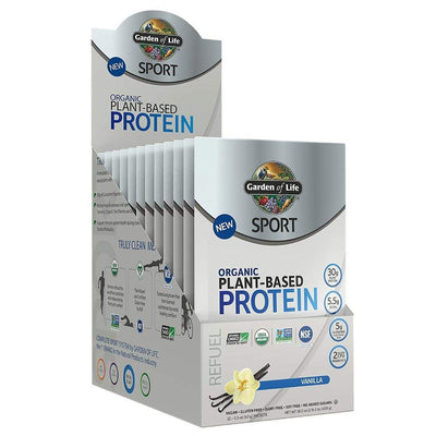 Garden of Life Protein Powders Vanilla Garden Of Life Sport Organic Plant-Based Protein 12 Count (1154099675180)