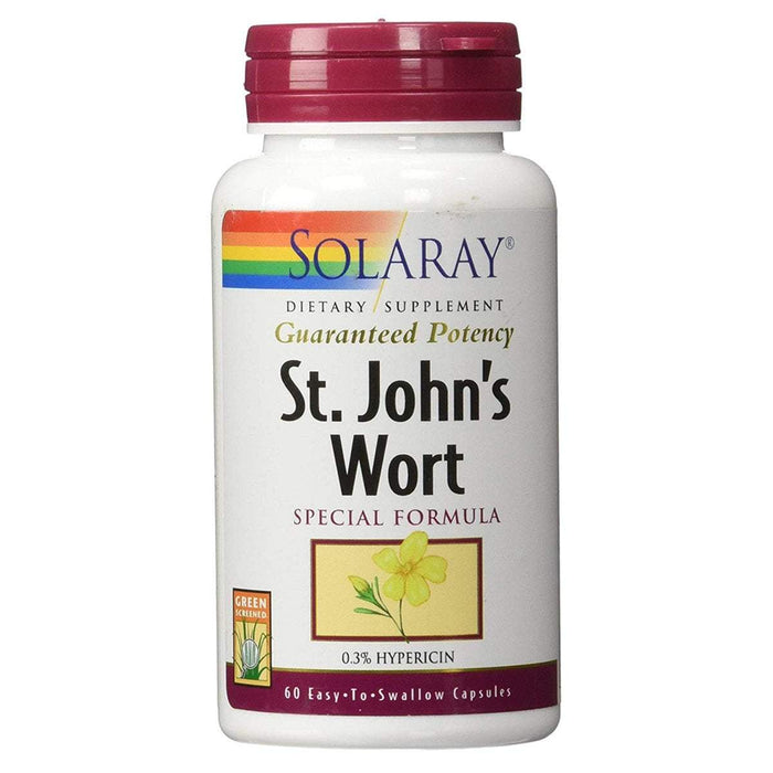 Solaray Vitamins, Minerals, Herbs & More Solaray St. John's Wort 300mg 60 caps (580512022572)