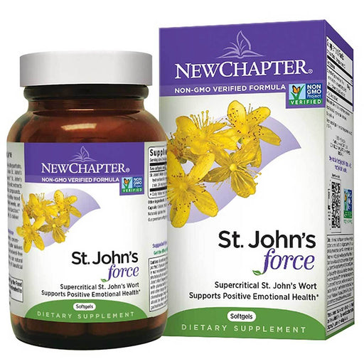 New Chapter Vitamins, Minerals, Herbs & More New Chapter St. John's Wort Force 60 Gels (581324832812)