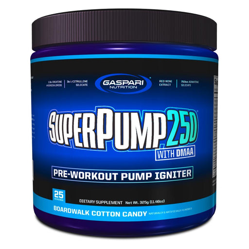 Gaspari Nutrition Sports Nutrition & More Boardwalk Cotton Candy Gaspari Nutrition Super Pump 250 25 Servings (582510477356)