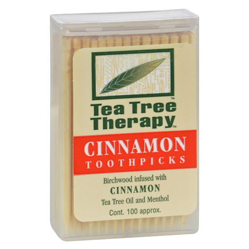 Tea Tree Therapy Specialty Health Products Cinnamon Tea Tree Therapy Toothpicks (1535440650284)