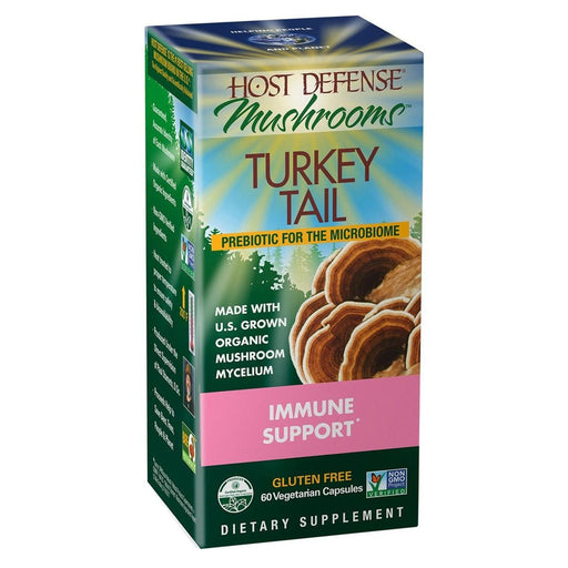 Fungi Perfect Specialty Health Products Default Fungi Perfecti Host Defense TURKEY TAIL 60VC (920108466220)