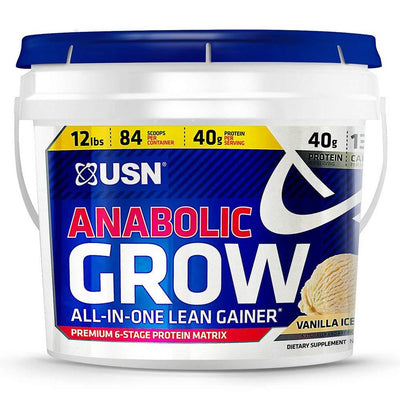 USN Protein Powders VANILLA ICE CREAM USN Anabolic Grow 12 LBS (1421060767788)