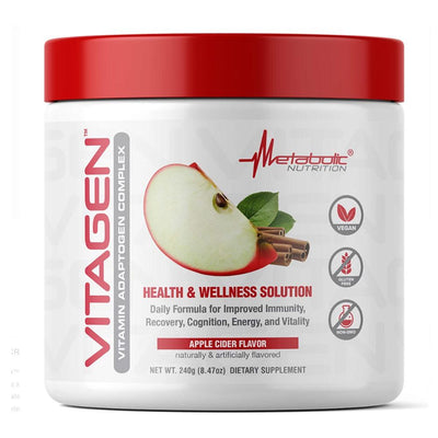 Metabolic Nutrition Multi Vitamins Apple Cider Metabolic Nutrition Vitagen 30 Servings (4329341911155)