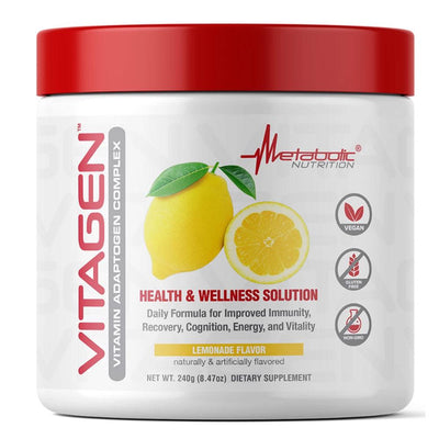 Metabolic Nutrition Multi Vitamins Lemonade Metabolic Nutrition Vitagen 30 Servings (4329341911155)