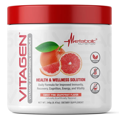 Metabolic Nutrition Multi Vitamins Sweet Pink Grapefuit Metabolic Nutrition Vitagen 30 Servings (4329341911155)