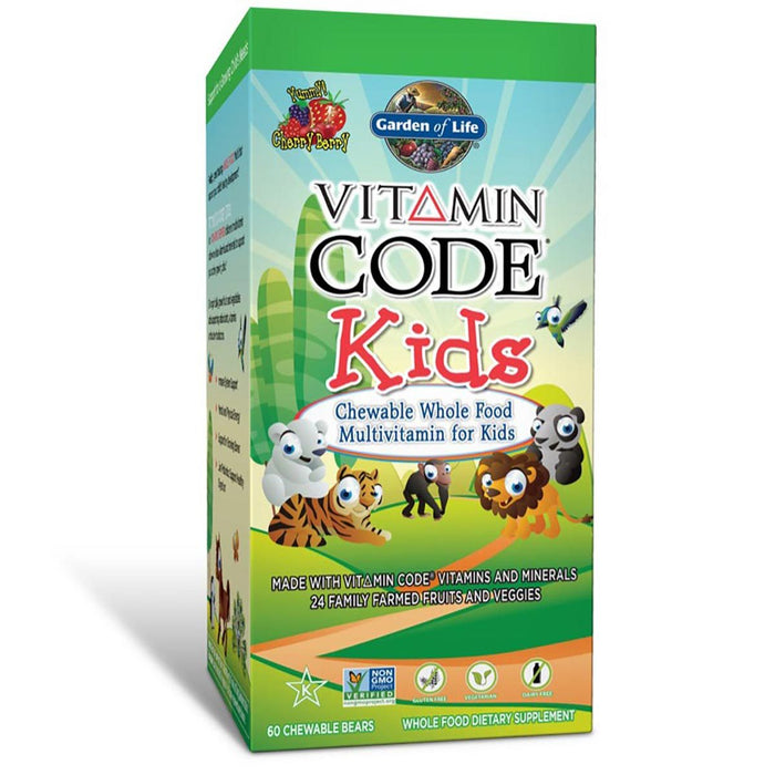 Garden of Life Vitamins, Minerals, Herbs & More Garden of Life Vitamin Code Kids 60 Chews (581195825196)