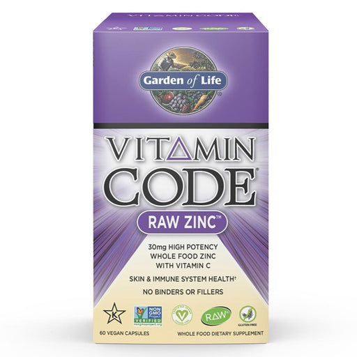 Garden of Life Vitamins, Minerals, Herbs & More Garden of Life Vitamin Code Raw Zinc 60 Vege Caps (581519802412)