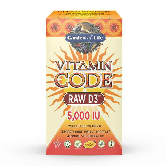 Garden of Life Vitamins, Minerals, Herbs & More Garden of Life Vitamin Code Raw D3 5000IU 60 Caps (581289574444)