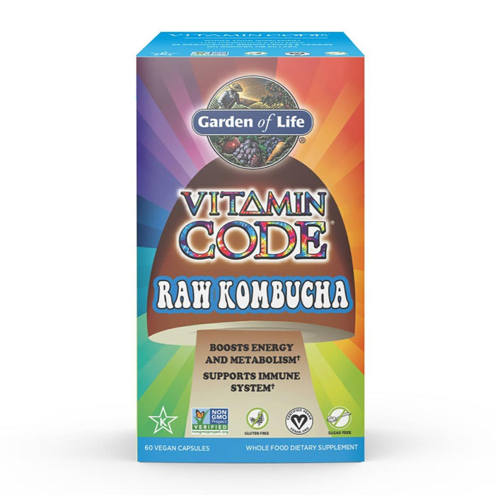 Garden of Life Vitamins, Minerals, Herbs & More Garden of Life Vitamin Code Raw Kombucha 60 Caps (580979064876)