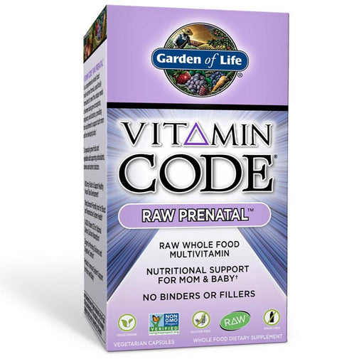 Garden of Life Vitamins, Minerals, Herbs & More Garden of Life Vitamin Code Raw Prenatal 180 Caps (581292261420)