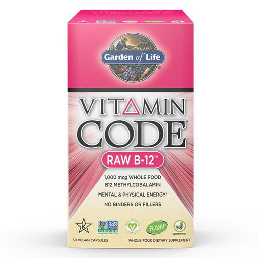 Garden of Life Vitamins, Minerals, Herbs & More Garden of Life Vitamin Code Raw B-12 30 Vege Caps (580946821164)