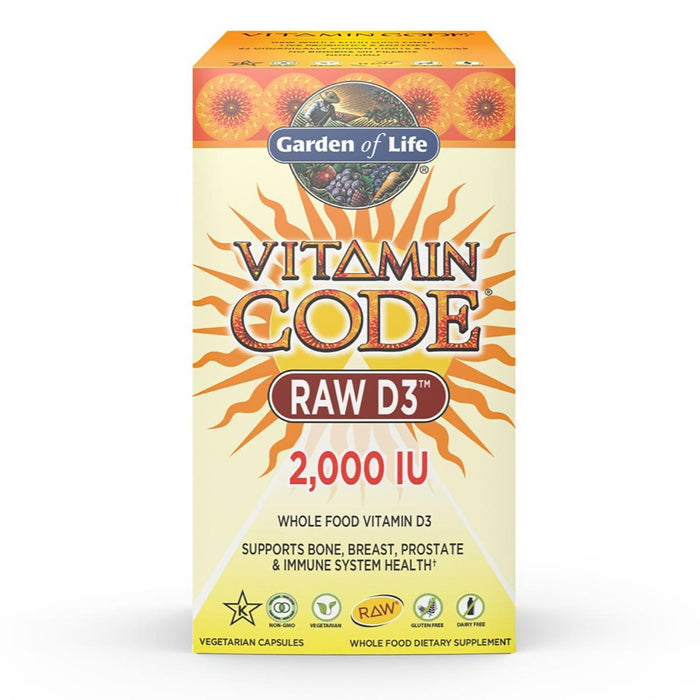 Garden of Life Vitamins, Minerals, Herbs & More Garden of Life Vitamin Code Raw D3 2000IU 120 Caps (581521637420)