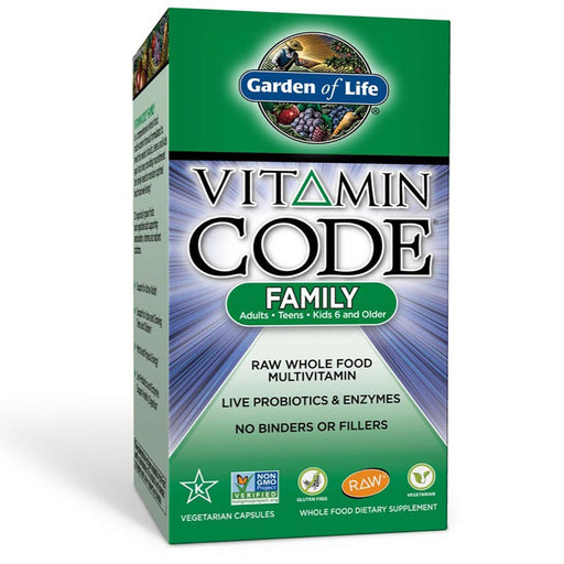 Garden of Life Vitamins, Minerals, Herbs & More Garden of Life Vitamin Code Family Formula 120 Vege Caps (580927389740)