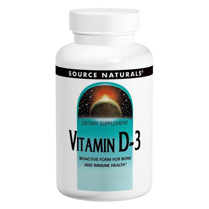 Source Naturals Vitamins, Minerals, Herbs & More Source Naturals Vitamin D-3 400IU 100 Tabs (580876435500)