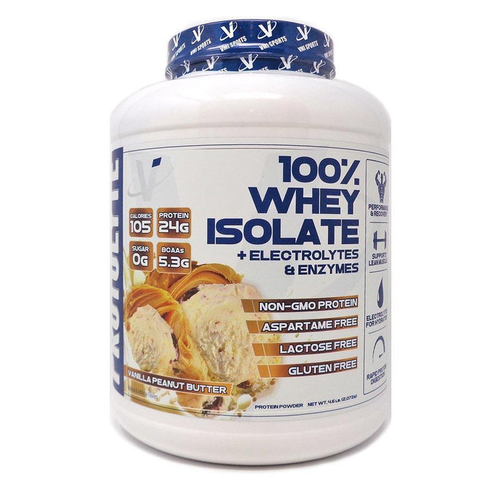 VMI Sports Protein Powders Vanilla Peanut Butter VMI Protolyte 100% Whey Isolate 70/Servings (4375825219699)