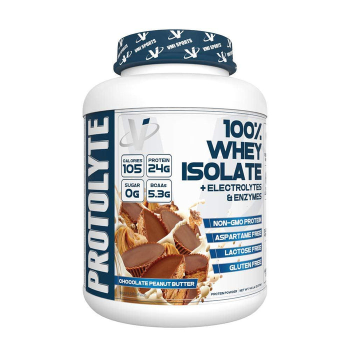 VMI Sports Protein Powders Chocolate Peanut Butter VMI Protolyte 100% Whey Isolate 70/Servings (4375825219699)