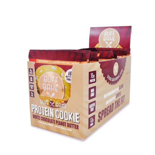 Buff Bake Sports Nutrition & More Buff Bake White Chocolate Peanut Butter Cookie 12/Box (582529515564)