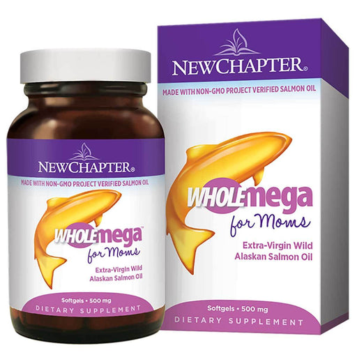 New Chapter Vitamins, Minerals, Herbs & More New Chapter WHOLEmega For Moms Prenatal 500mg 90 Soft Gels (581224366124)