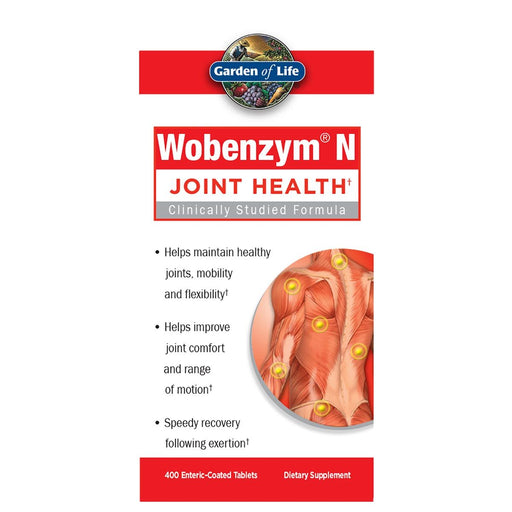 Garden of Life Vitamins, Minerals, Herbs & More Garden of Life Wobenzym N 400 Tabs (581099618348)