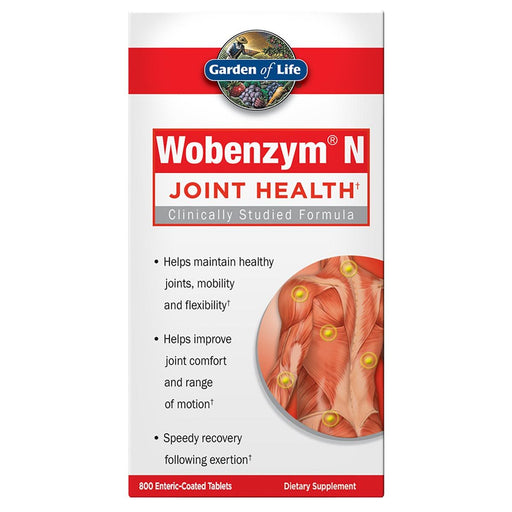 Garden of Life Vitamins, Minerals, Herbs & More Garden of Life Wobenzym N 800 Tabs (581099126828)