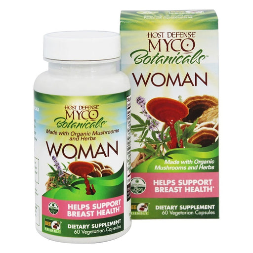 Fungi Perfect Vitamins, Minerals, Herbs & More Fungi Perfect Host Defense MycoBotanicals Woman 60 Vege Caps (582471024684)