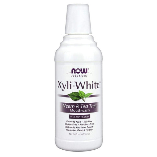 Now Foods Specialty Health Products Default Now Foods Xyli White Neem & Tea Tree Mouthwash 16FL OZ (1292511707180)
