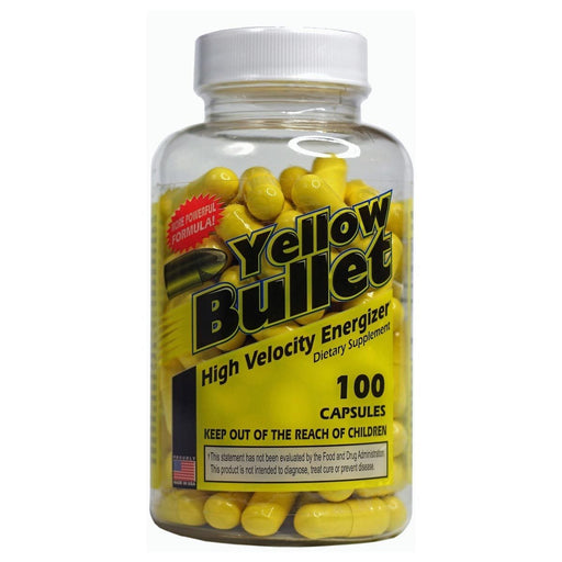 Hard Rock Supplements Sports Nutrition & More Hard Rock Supplements Yellow Bullet 100 Caps (582054641708)
