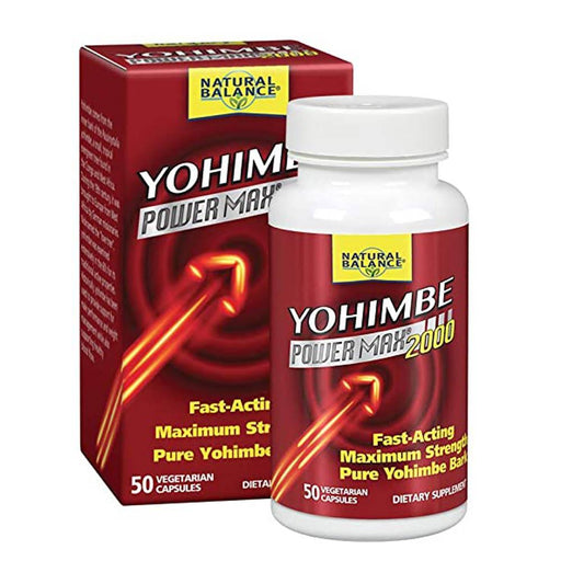 Natural Balance Fat Burner Natural Balance Yohimbe Power Max 2000 50 Capsules (4534413721715)