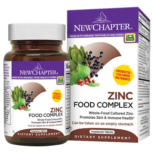 New Chapter Vitamins, Minerals, Herbs & More New Chapter Zinc Food Complex 60 Tabs (582007291948)