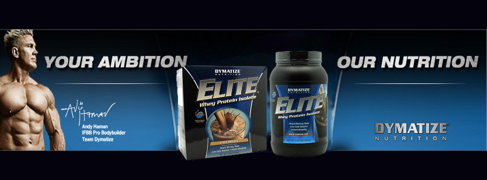 dymatize whey protein banner