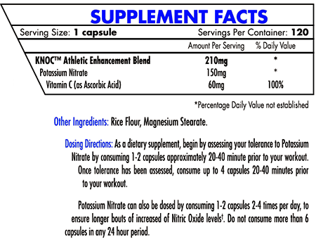 iforce potassium nitrate supplement facts