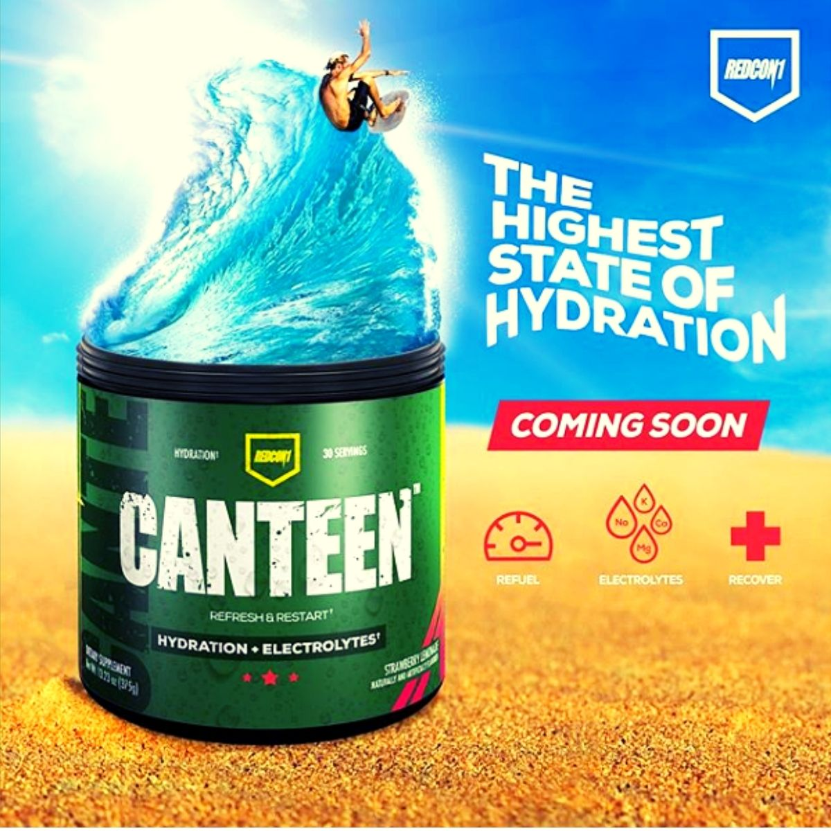 New Redcon1 Canteen Hydration Supplement