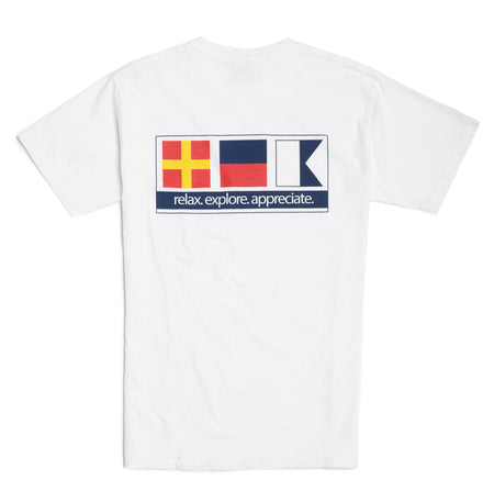 Nautical Signal Flag - White Short Sleeve